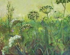Field Edge with Cow Parsley and wild flowers-Ann Oram Flower Words, Flower Art, Art Flowers, Watercolor Drawing, Painting & Drawing, Cow Parsley, Mermaid Photos, Queen Art, Queen Annes Lace