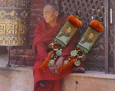 Earrings nomadic tribal - ethnic jewelry - Mongolian Asian - - vintage Asian - handmade - Fujigirls Mongolia