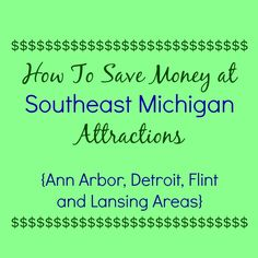 Simple tips for how to save money at 36 Southeast Michigan attractions! Great for helping families save some moula :)