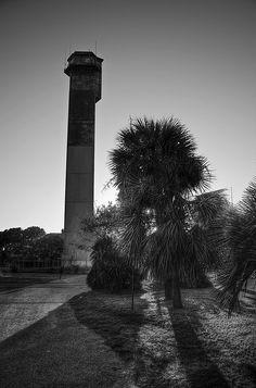 Sullivan's Island Lighthouse on Sullivan's Island, SC (near Isle of Palms, Mt. Lighthouse Lighting, Lighthouse Photos, Charleston Beaches, Charleston Sc, South Carolina Lighthouses, Sullivans Island Sc, Isle Of Palms, Beach Trip, Places To See