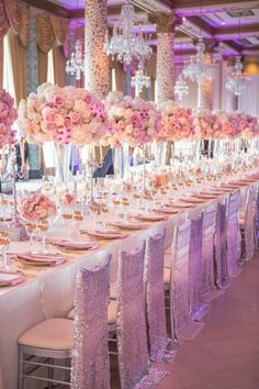 Stunning, Stunning, Stunning.....How Gorgeous is this setting? Now I think you would need to have some money to pay for tables like this....even down to the chair covers....absolutely gorgeous!