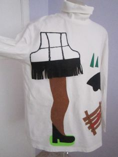 Leg lamp Shirt great for Ugly Christmas Sweater party Tacky Christmas Jumper Xl to XXL. $15.00, via Etsy.