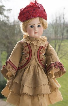 """25"""" (63 cm)  Beautiful Antique French Bisque Bebe Steiner, Figure A"""
