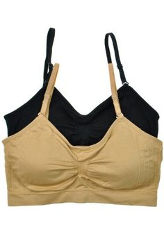 Anemone Women`s Seamless Removable Strap Bras (2 or 4 Pack) - List price: $29.99 Price: $8.00