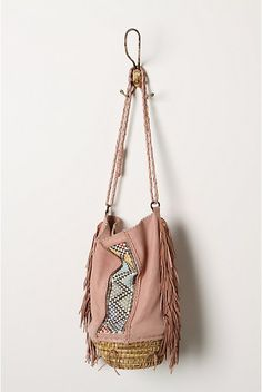 pretty pale pink bag with embroidery #boho #hippie #purse #bag