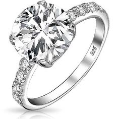 cheap 3 carat solitaire engagement ring