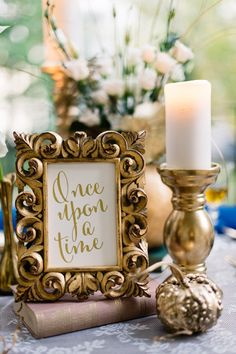 Because aren't all fairy tales gilded in gold? #fairytalewedding #weddingideas #weddingstyle