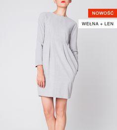 Szyjemy Sukienki cecylia szara High Neck Dress, Dresses For Work, Clothes, Fashion, Turtleneck Dress, Outfits, Moda, Clothing, Fashion Styles