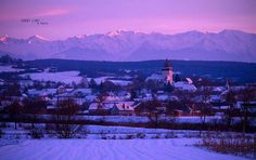 Sunset light over Carpathian mountains and Hosman village near ©️️ Nicu Hoandra via Carpathian Mountains, Nicu, Mount Everest, Sunset, Landscape, Transylvania Romania, Travel, Outdoor, Winter Snow