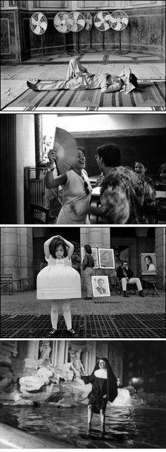 Dealing with Summer Heat :: 1. PAKISTAN,1988. by Abbas  /  2. FRANCE - At a café, 1991. by Guy Le Querrec  /  3. MADRID, 1994. by  Cristina Garcia Rodero  /  4. ROME - A nun in the Trevi Fountain, 2000. by Ferdinando Scianna