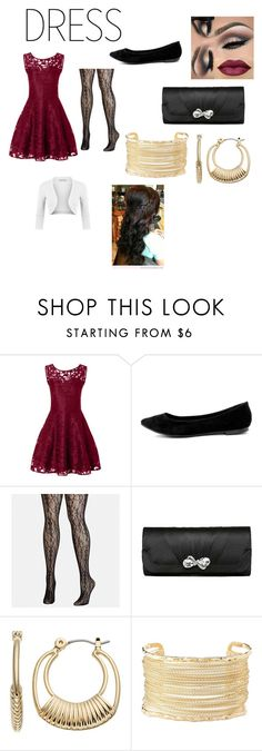 """""""Dress To Impress"""" by lukehemmo-is-a-penguin ❤ liked on Polyvore featuring Breckelle's, Avenue, Napier, Charlotte Russe and LE3NO"""