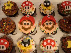 Super Mario Brothers Inspired Cupcakes by MightyMorgan, via Flickr