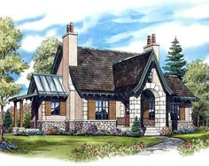plan 11551kn european cottage southern living house plansfrench country