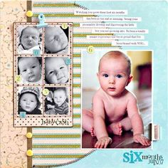 Scrapbook Layouts For Baby Boy | Scrapbooking-Baby Layouts