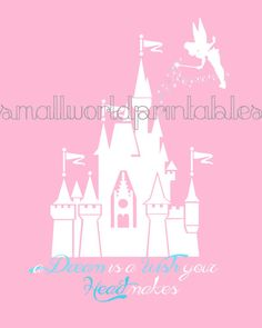 INSTANT DOWNLOAD Princess Disney Castle by SmallWorldPrintables
