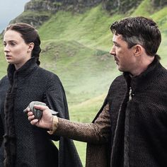 Petyr Baelish and Sansa Stark, promotional shot from Game of Thrones, 5.03.