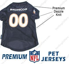 56bf7e5be Denver Broncos PREMIUM NFL Football Pet Jersey