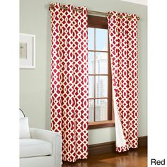 Trellis Printed Thermal Insulated Curtain Panel Pair | Overstock.com Shopping - Great Deals on Curtains
