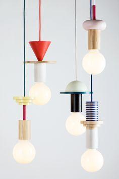 Geometric pendant lights by the northern-German design studio Schneid