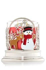 Reindeer & Snowman 14.5 oz. 3-Wick Candle Sleeve - Slatkin & Co. - Bath & Body Works