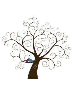 Custom Fingerprint Tree Digital File by FindingJoyWithEster Bird Template, Tree Templates, Plastic Bottle Flowers, Tree Stencil, Fingerprint Tree, Tree Svg, Cross Stitch Tree, Winter Trees, Button Art