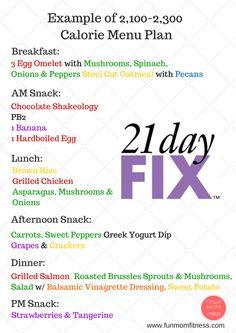 21 Day Fix: Sample Menu Plan 2,100-2,300 Calories