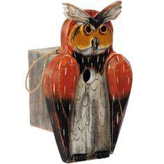 HORNED OWL BIRDHOUSE