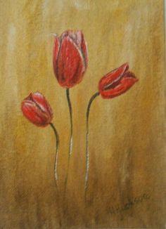 Tulip Study   Original Oil Painting 7 x5