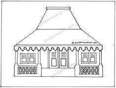 Gambar Sketsa Rumah Adat Betawi