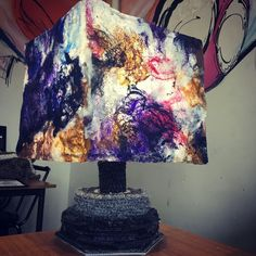 Bedside lamp made completely out of carpet by-products. Please go like it! https://project81.inscape.co.za/236