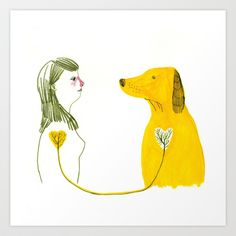 LOVE AND DOGS part 2 Art Print by Sara Stefanini