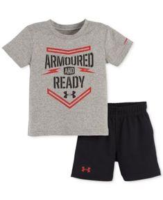 Under Armour Baby Boys' 2-Piece Armoured T-Shirt & Shorts Set