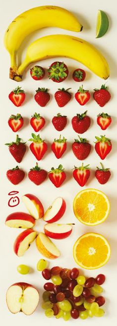 This is everything you'll find in a carton of our strawberries and bananas smoothie.