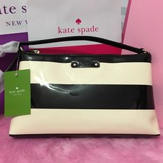 KATE SPADE Amy Crossbody Bag AUTHENTIC. Cream & black combination stripes. Gold plated hardware. Comes w/ KS paper bag. kate spade Bags Crossbody Bags