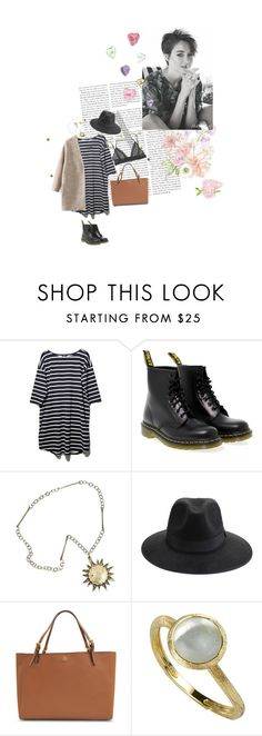 """""""76"""" by nocturnalanimal ❤ liked on Polyvore featuring BB Dakota, Dr. Martens, Impulse, Tory Burch and Marco Bicego"""