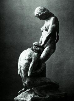 "Gustav Vigeland (1869-1943) ""Kneeling Man Embracing a Standing Woman"""