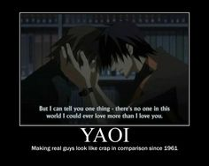 Moments like these make me fall in love with animated characters, even gay characters... #yaoi (Junjou Romantica)