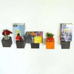 Rafturi decorative modulare din lemn de brad, pentru mici decorațiuni, maro și portocaliu Floating Shelves, Colors, Home Decor, Decoration Home, Room Decor, Wall Shelves, Colour, Home Interior Design, Color