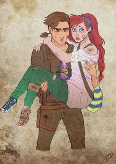 The Walking Disney : Jim and Ariel by Kasami-Sensei.deviantart.com on @deviantART