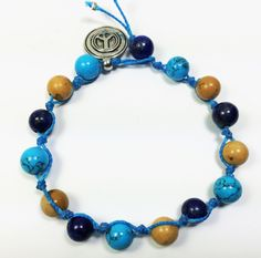 Handmade Powerful bracelet turquoise lapizlasuli jasper fashion style chic unique gift for her him,stylish thread,custom, bridesmaids by TheDharmaCrafts on Etsy
