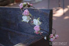 Corona de flores novias boda hadas por ArtwenCreations en Etsy