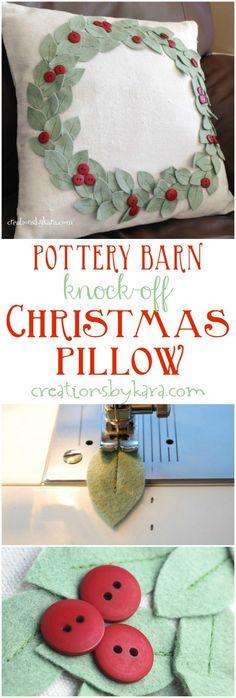 pottery-barn-knock-off-christmas-pillow