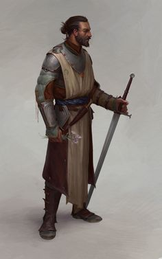 Swordsman fighter by Aleksey Bayura on ArtStation.