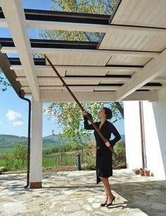 The pergola kits are the easiest and quickest way to build a garden pergola. There are lots of do it yourself pergola kits available to you so that anyone could easily put them together to construct a new structure at their backyard. Backyard Patio Designs, Pergola Designs, Backyard Landscaping, Pergola Ideas, Backyard House, Landscaping Ideas, Backyard Porch Ideas, Patio Roof, Pergola Patio