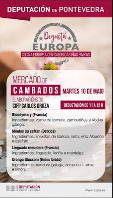 """CORES DE CAMBADOS: AS FOTOS DO """"DEGUSTA EUROPA"""" EN CAMBADOS"""