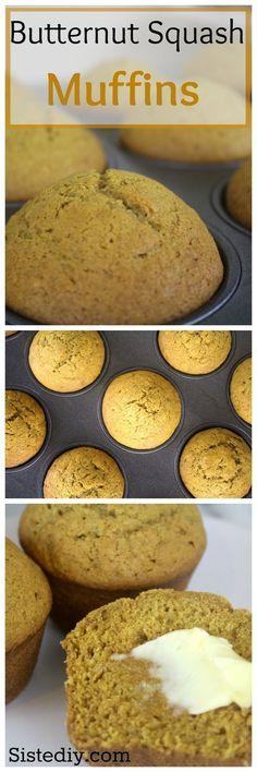 The most deliciously moist butternut squash muffin recipe.