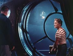 '20.000 Leagues Under The Sea' (1954) Ned breaks free from his confinement and manages to resurface the Nautilus. http://scififilmfiesta.blogspot.com.au/