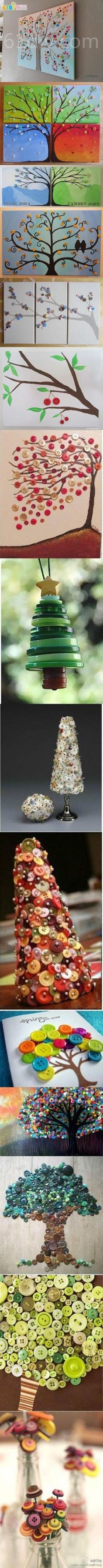 Creative Button Crafts - Trees 2