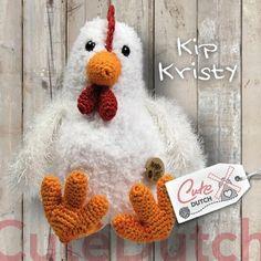 Kip Kristy is gemaakt met Teddy van RicoDesign en Larra en Panda van Scheepjeswol en wordt ongeveer 25cm groot. Let op: je koopt het haakpatroon en niet het ei