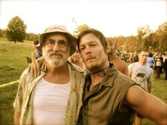 Dale and Daryl :} [Jeffrey DeMunn and Norman Reedus]